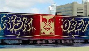 obey graffiti streetart risk