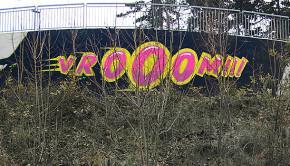 Street art JAF 34 - VROOOM!!!