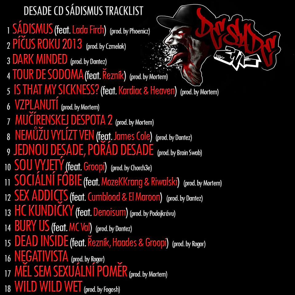 desade tracklist